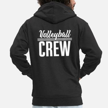 Beach Volleyball Volleyball team - Men's Premium Zip Hoodie