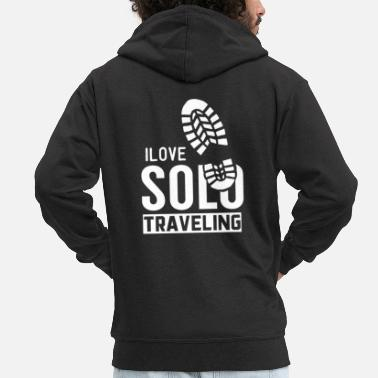 Single Team Single Travel Solo Travel Tourist Single Travel - Felpa con zip premium uomo