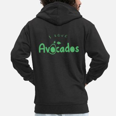 Tool Nutrition avocados avocado Healthy fat fruit - Men's Premium Zip Hoodie