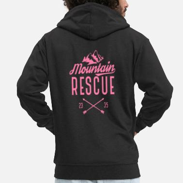 Best Ski Rescue Savior Mountain Rescue Mountain rescue mountains - Men's Premium Zip Hoodie