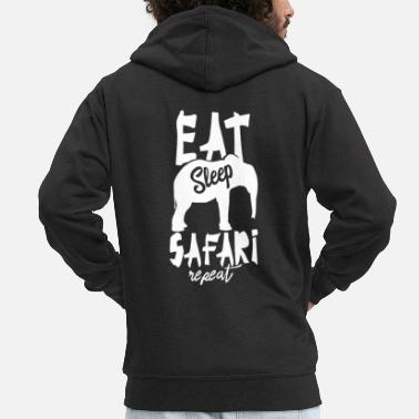 Zebra Wild Animals Africa Safari Safaris Tour - Men's Premium Zip Hoodie