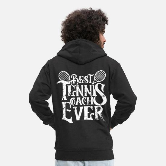 Tennis Player Hoodies & Sweatshirts - Trainer tennis tennis instructor instructor instructor - Men's Premium Zip Hoodie black