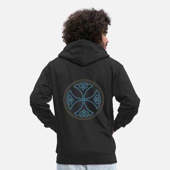 Play Hoodies & Sweatshirts - Celtic knot - Men's Premium Zip Hoodie black