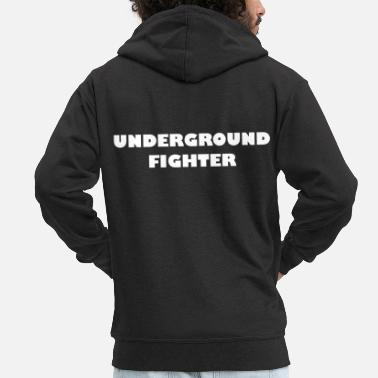 Martial Arts Underground Fighter - Men's Premium Hooded Jacket