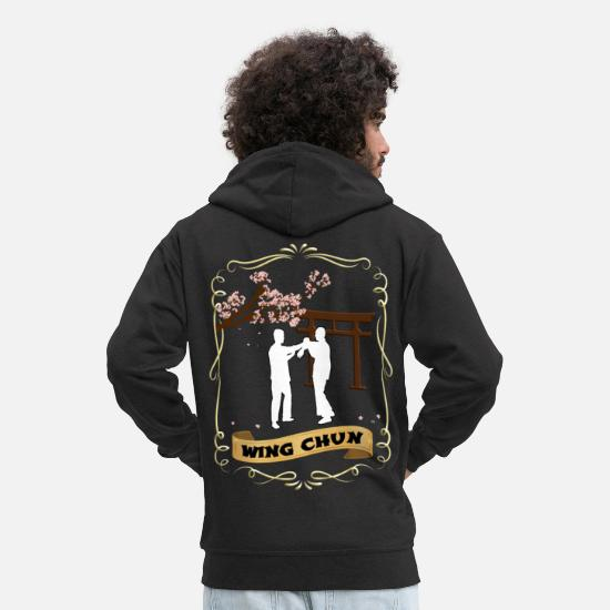 Martial Arts Hoodies & Sweatshirts - Wing chun - Men's Premium Zip Hoodie black