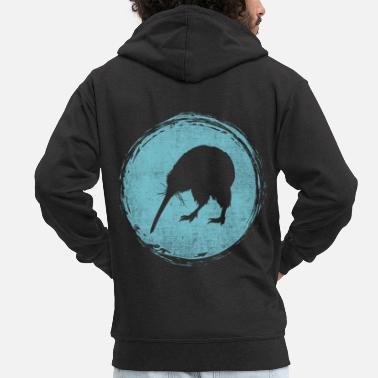 Auckland New Zealand kiwi backpacker - Men's Premium Zip Hoodie