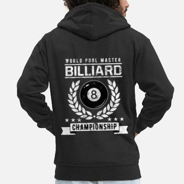 Ball Billiards | Billiard Ball | Billiards Championship - Men's Premium Hooded Jacket