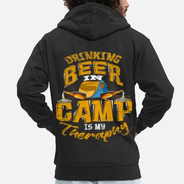 To Camp Camping Camping Beer Camping - Men's Premium Hooded Jacket