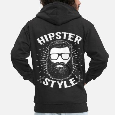 Hipster Hipsters hipster - Men's Premium Hooded Jacket