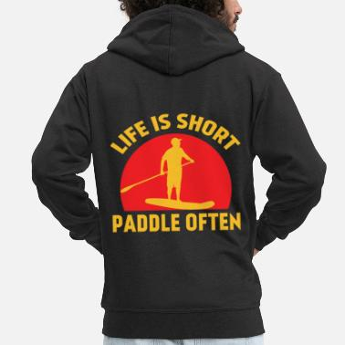 Paddle Paddle board Sport paddle board shirt for fans - Men's Premium Zip Hoodie
