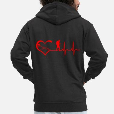Heartbeat Hiking heartbeat - Men's Premium Zip Hoodie