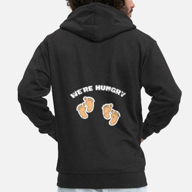 Pregnancy Twins pregnancy - Men's Premium Zip Hoodie