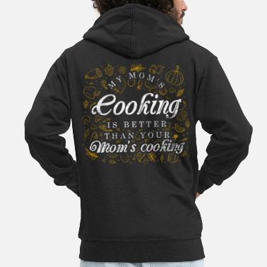 Meal Mom cooking - Men's Premium Zip Hoodie