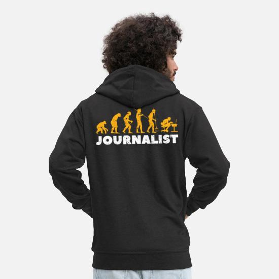 Journaliste Sweat-shirts - Journaliste Evolution - Veste à capuche premium Homme noir