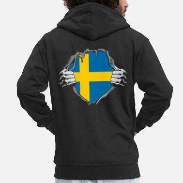 Viking Sweden nationality - Men's Premium Zip Hoodie