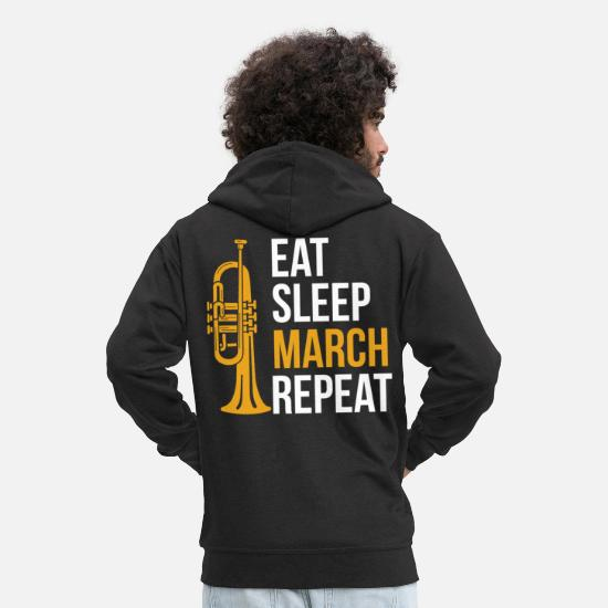 Gift Idea Hoodies & Sweatshirts - Trumpet leisure - Men's Premium Zip Hoodie black