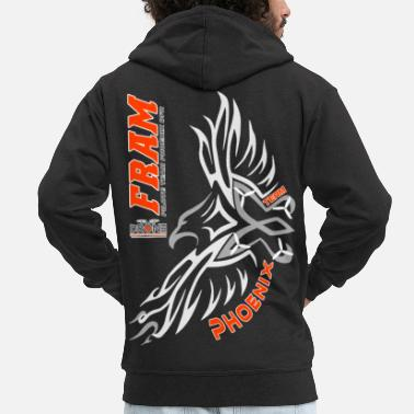 OFFICIAL REAR FRAM TEE - Men's Premium Zip Hoodie