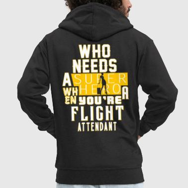 Flight Attendant flight attendant - Men's Premium Hooded Jacket