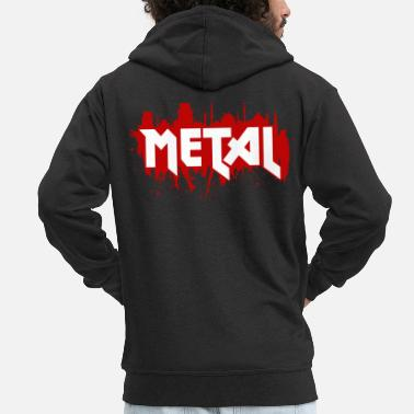 Heavy Heavy Metal - Men's Premium Hooded Jacket