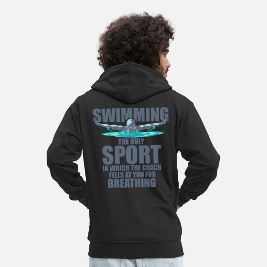 Swim Hoodies & Sweatshirts - swim - Men's Premium Zip Hoodie black
