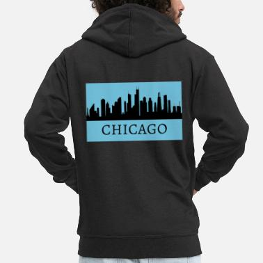 Chicago Chicago - Men's Premium Zip Hoodie