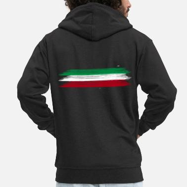 Idea Italy flag - Men's Premium Zip Hoodie