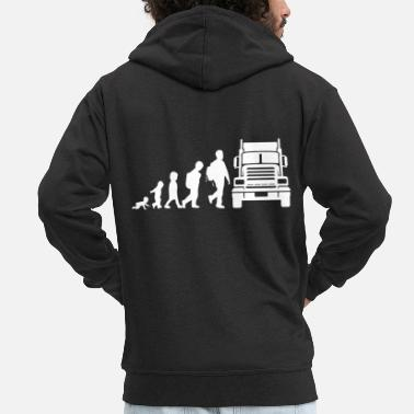 Heavy Trucker Evolution - Men's Premium Zip Hoodie