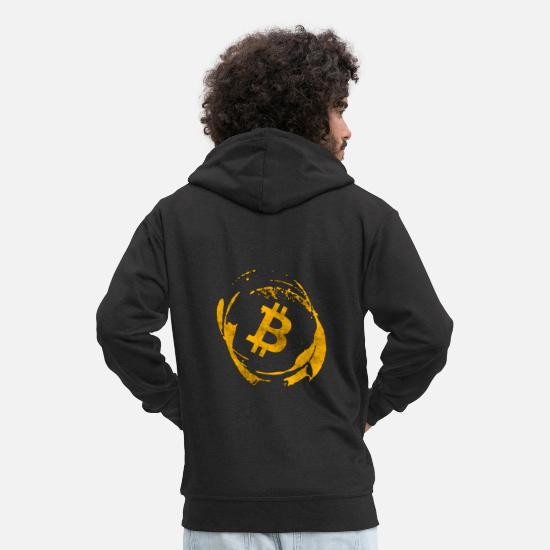 Bitcoin Hoodies & Sweatshirts - Bitcoin - Men's Premium Zip Hoodie black
