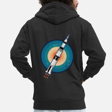 Mars ROCKET IN SPACE Gift Astronomy Hobby - Men's Premium Zip Hoodie