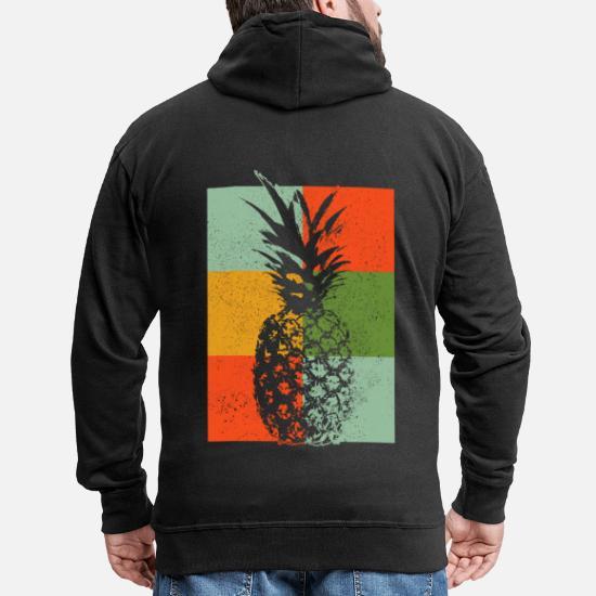 Männer KapuzenjackeSpreadshirt Premium Vintage Vintage Ananas pUGSMVqz