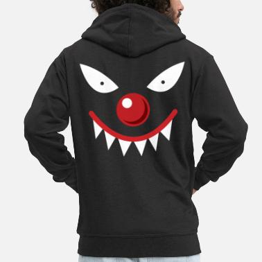 Clown Scary face - Men's Premium Hooded Jacket