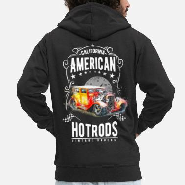 Hot Rod Hot Rod racer - Men's Premium Hooded Jacket