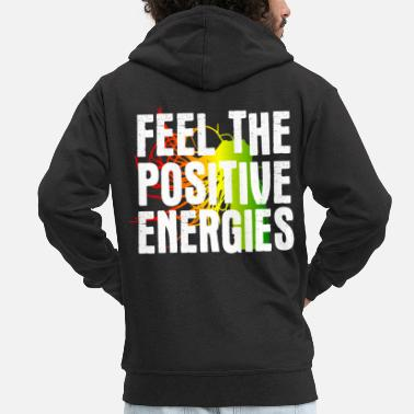 Rasta Positive energy - Men's Premium Zip Hoodie