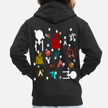 Science Fiction Science fiction colorful - Men's Premium Zip Hoodie