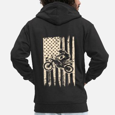 Circuit Motocross Off Road Biker Dirt Bike - Men's Premium Zip Hoodie