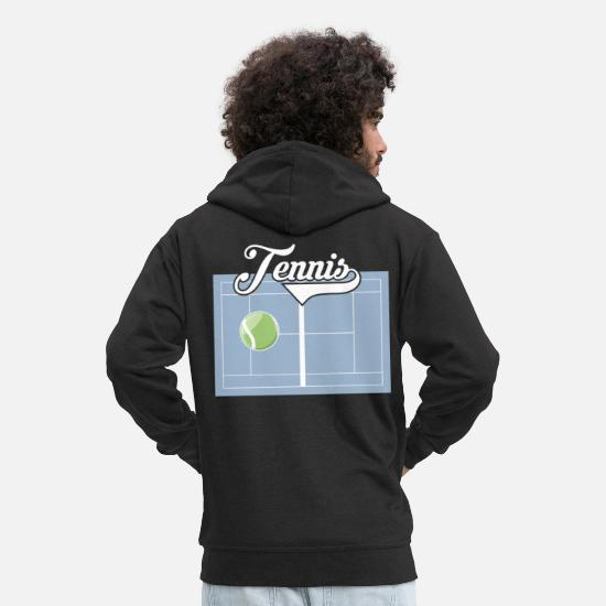 Tennis Court Hoodies & Sweatshirts - Tennis Club Tennis court - Men's Premium Zip Hoodie black