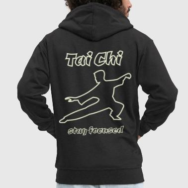 Tai Chi - stay focused (Neon Edition) - Men's Premium Hooded Jacket