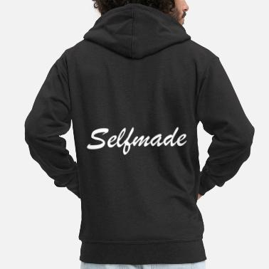 Selfie self made - Felpa con zip Premium da uomo