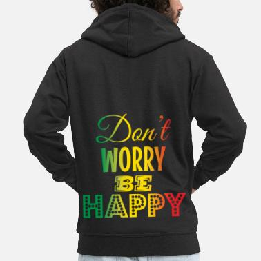 Reggae Do not Worry Be Happy - Mannenjack Premium met capuchon