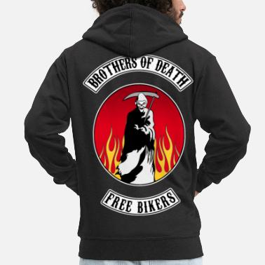 Death Brothers of death bikers - Veste à capuche premium Homme