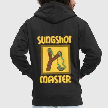 Slingshot Awsome & Cool Slingshot Tshirt Design Slingshot master - Men's Premium Hooded Jacket