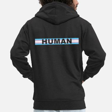 Transgender Transgender HUMAN - Men's Premium Hooded Jacket