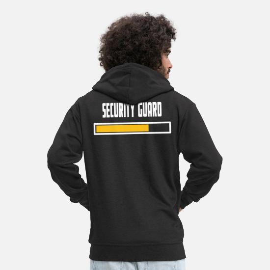 Security Guard Hoodies & Sweatshirts - Security Guard Installing T-Shirt - Men's Premium Zip Hoodie black
