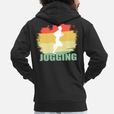 Tea Vintage jogging tea - Men's Premium Zip Hoodie