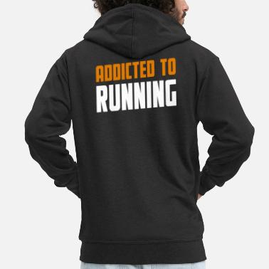 Hobby Adicto a Running Lopning Gift - Chaqueta con capucha premium hombre