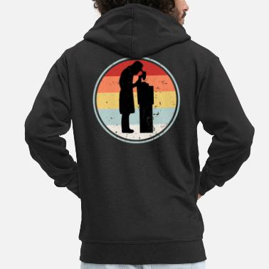 Professions Hematologist RETRO COLLECTION - Men's Premium Zip Hoodie