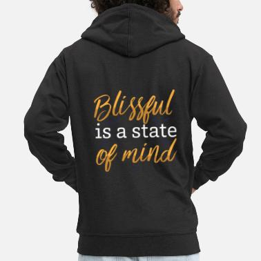 Bliss Blissful Buddhism - Men's Premium Zip Hoodie