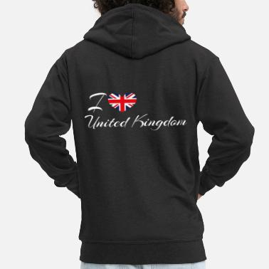 Kingdom Love United Kingdom - Men's Premium Zip Hoodie
