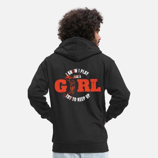 Gift Idea Hoodies & Sweatshirts - Volleyball girl gift - Men's Premium Zip Hoodie black