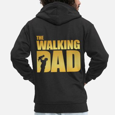 Dad Walking Dad - Männer Premium Kapuzenjacke